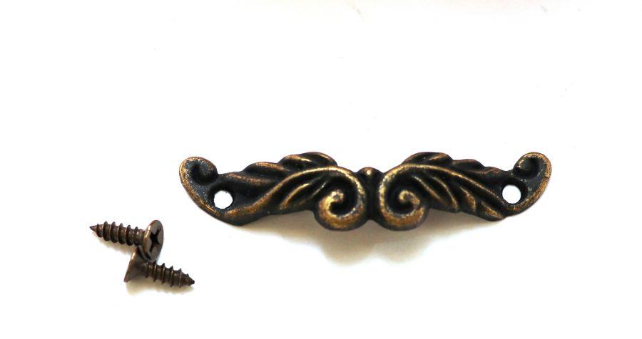 Ручка-скоба Завиток, бронза, 42*12 мм, 1 шт/упак