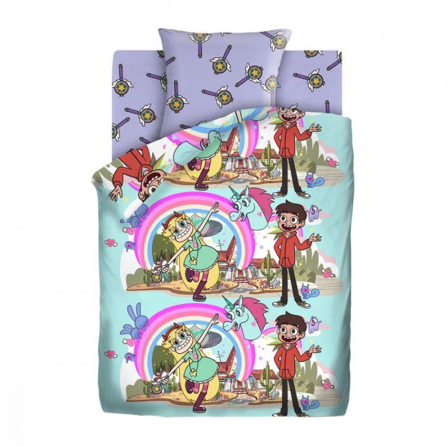 """Детское постельное белье """"Звездная принцесса"""", рис.16035-1-16036-1 (Звездная принцесса), 1.5сп."""