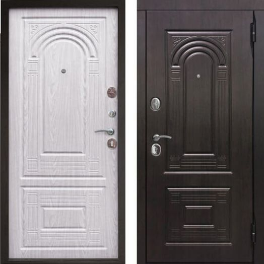 Входная дверь Флоренция беленый дуб