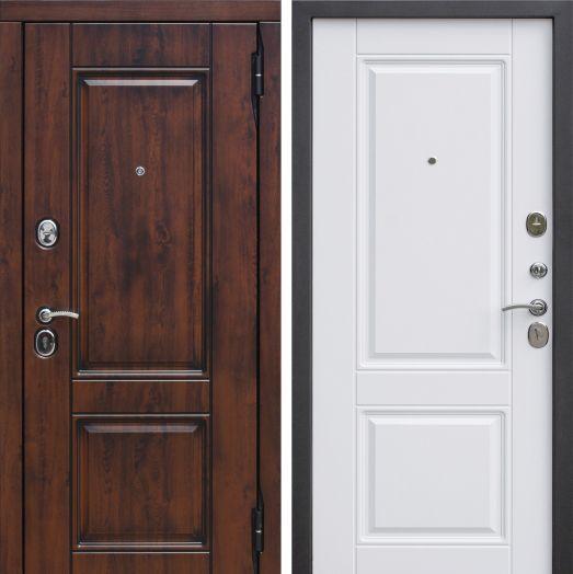 Входная дверь 9,5 см Вена Винорит Патина мдф/мдф Белый матовый