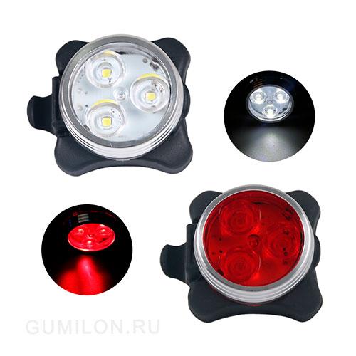 Универсальный фонарь для велосипеда LED Light Combo Zecto Drive HJ-030, USB