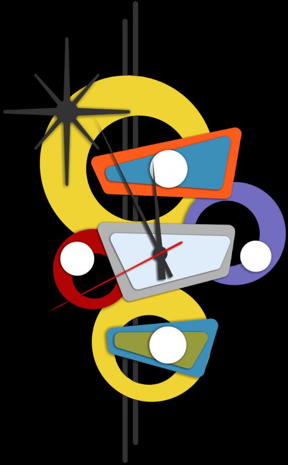 Часы настенные абстракция вертикальная
