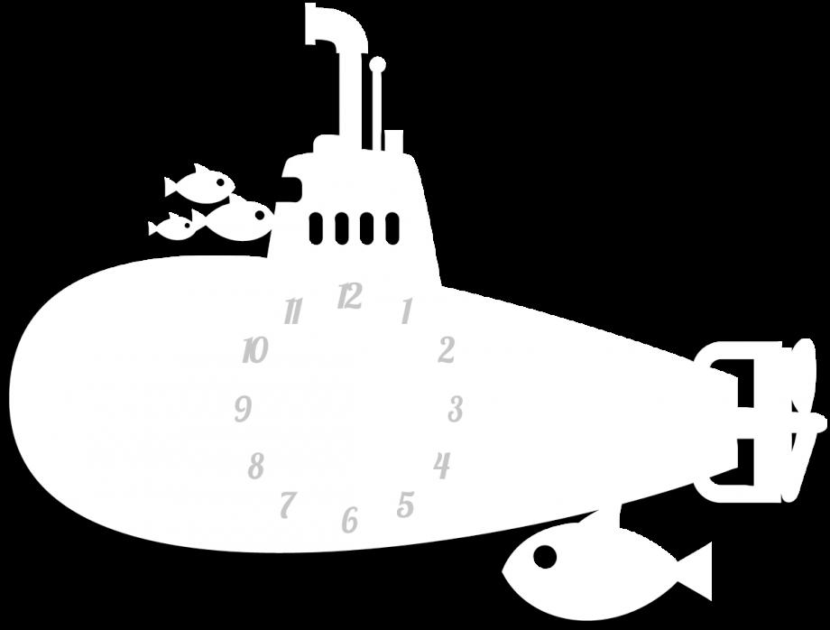 Часы настенные подлодка
