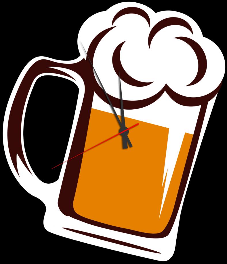 Часы настенные бокал пива