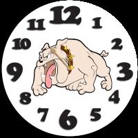Часы настенные с бульдогом