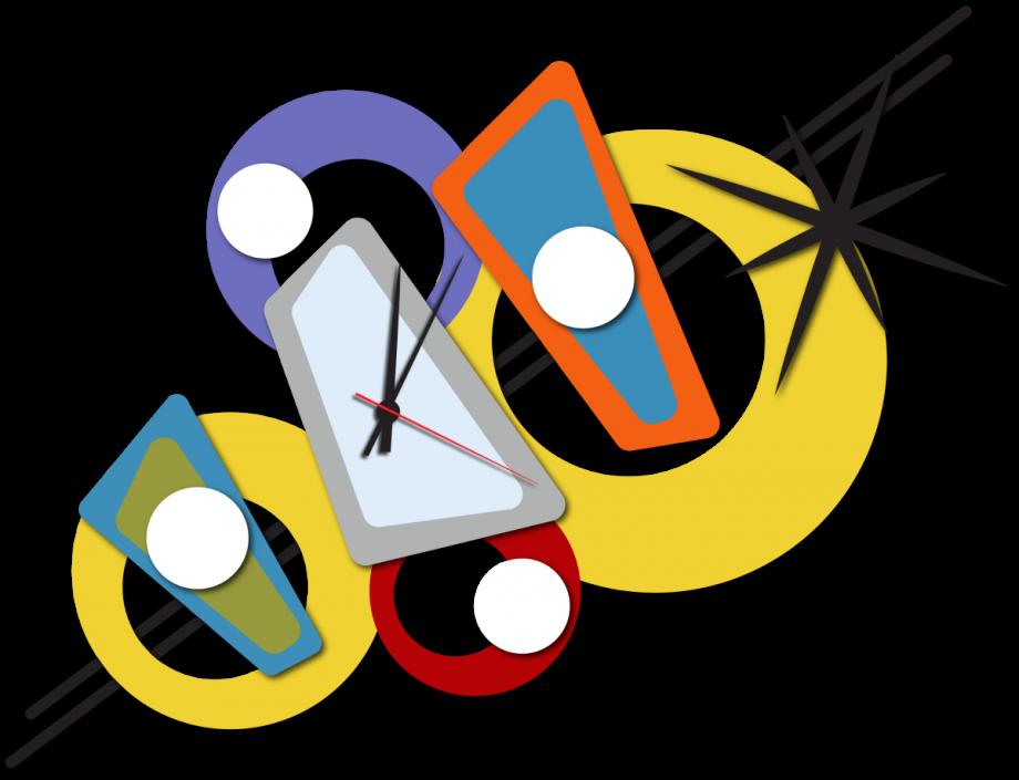 Часы настенные абстракция
