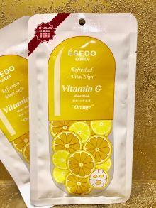 100 шт Тканевая маска Esedo Vitamin C Silk Moist Mask Orange (1 шт)