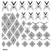 Слайдер-дизайн для ногтей № 0331