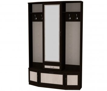 Шкаф для прихожей с зеркалом (модуль 600)