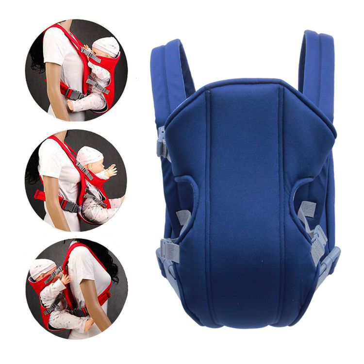 Рюкзак-слинг для переноски ребенка Baby Carriers, 3-12 месяцев, цвет синий