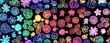Лазерная фольга Цветущий Сад