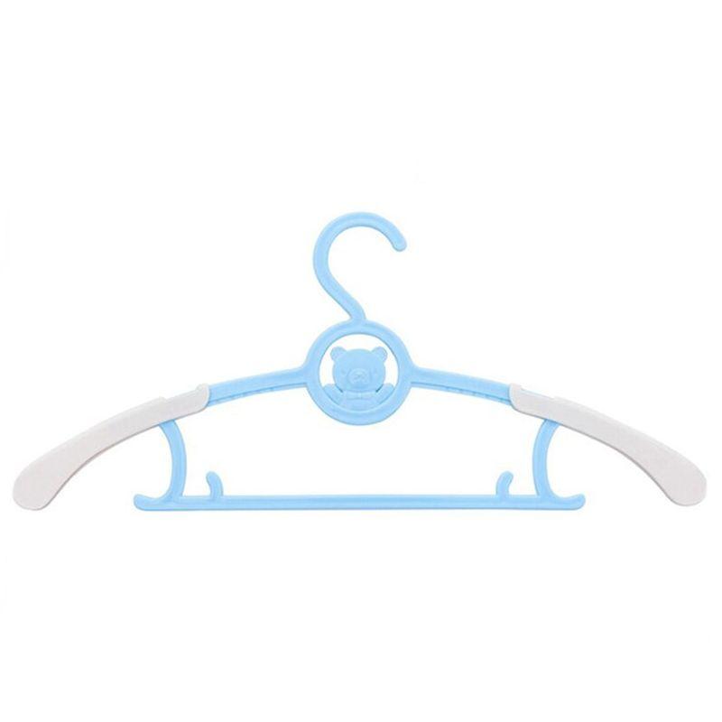 Вешалка-плечики для детской одежды с раздвижным механизмом, цвет голубой