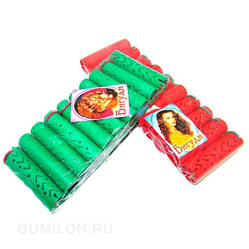 Резиновые бигуди-коклюшки 2х7,5 см, 10 шт