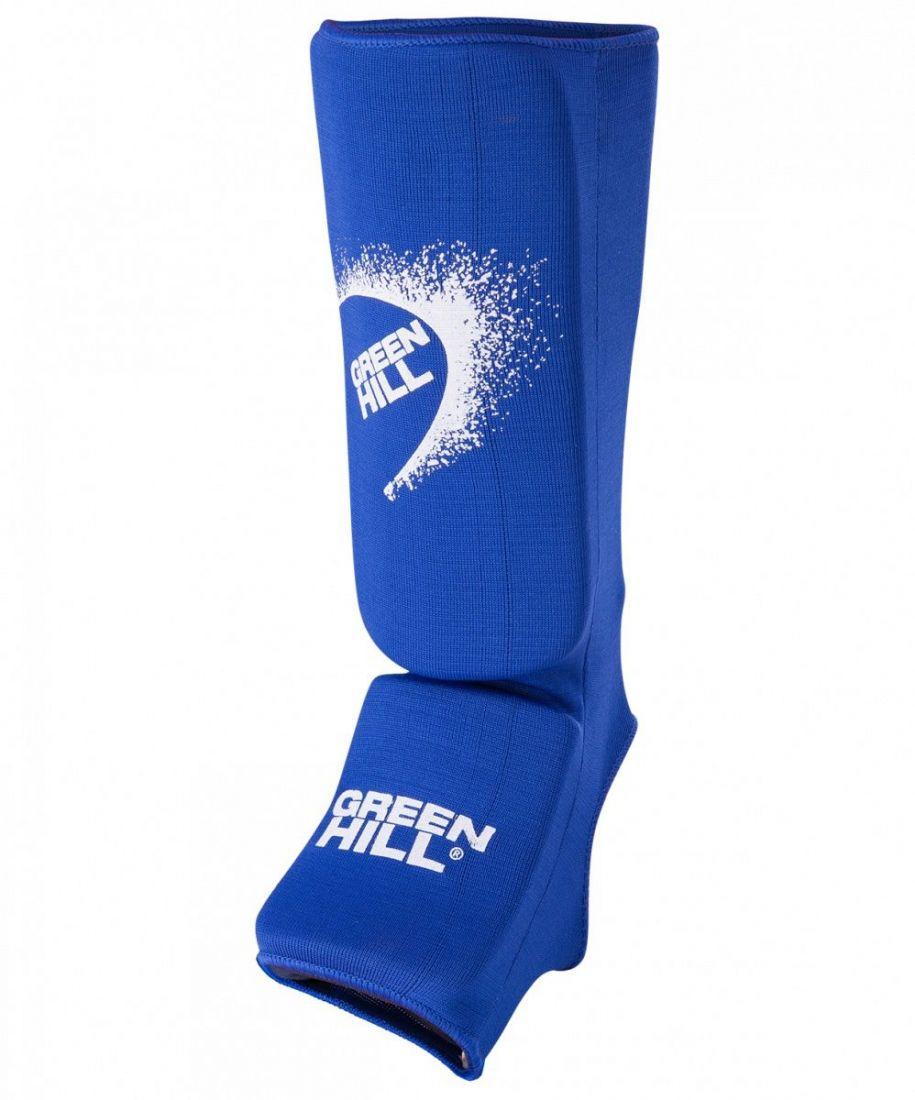 Комплект защиты голени и стопы Green Hill SIC-6131 синий