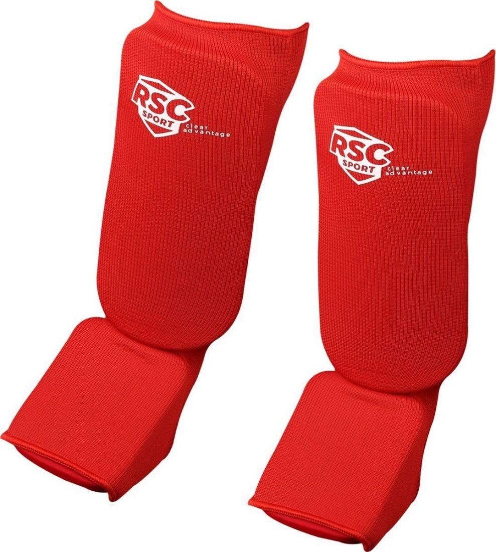 Комплект защиты голени и стопы RSC RSC002 красный
