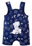 Комбинезон с застежками на кнопки, ткань с рисунком звездочек и мишка TEDDY