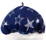 Шапочка для новорожденных с эластичной резинкой со звездочками