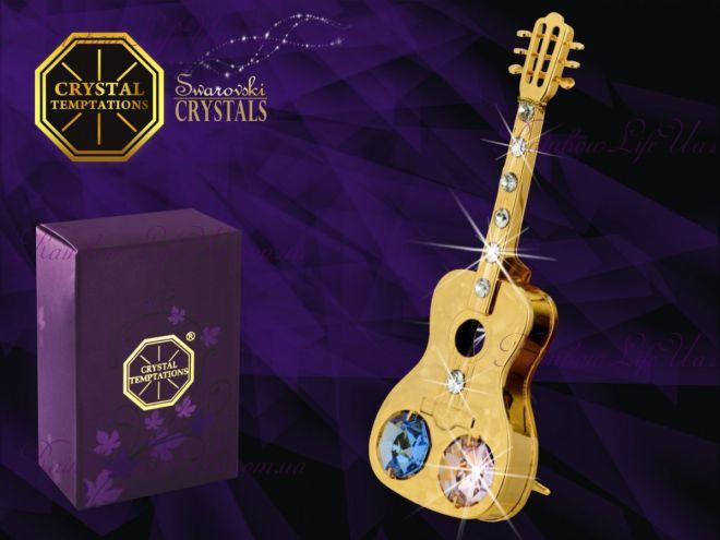 "Фигурка гитара с камнями ""Swarovski"""