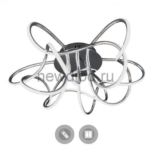 Управляемый светодиодный светильник LIANA MUSE 80W R-600-CHROME/OPAL-220-IP20