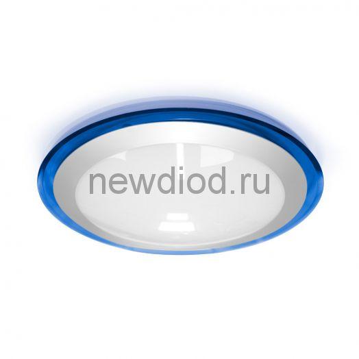 Накладной светодиодный светильник ALR-25 AC170-265V 25W d430*H90мм Синий (Холодный белый) 2400lm