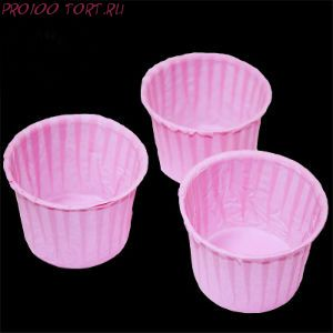 Форма бумажная Маффин розовый  20 шт/уп.