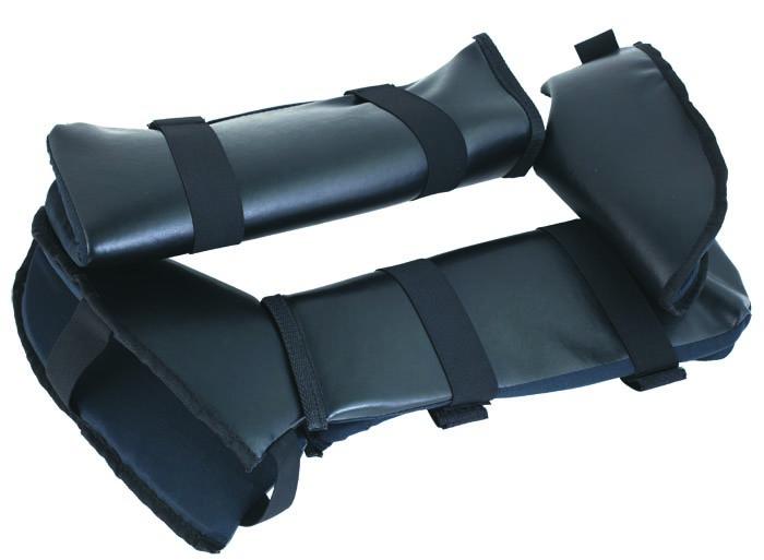 Комплект защиты голени и стопы SM-037 черный