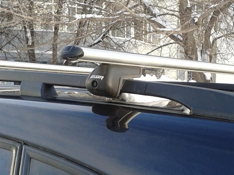 Багажник (поперечины) на рейлинги на Chevrolet Captiva, Атлант, аэродинамические дуги