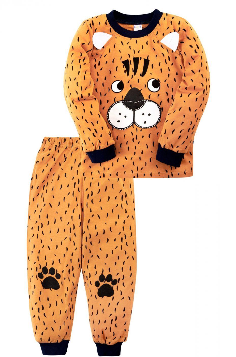 Пижама для мальчика оранжевая с тигриной мордочкой