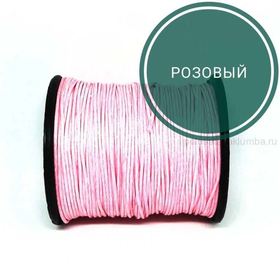 Шнур вощеный, Розовый, 10 м/упак
