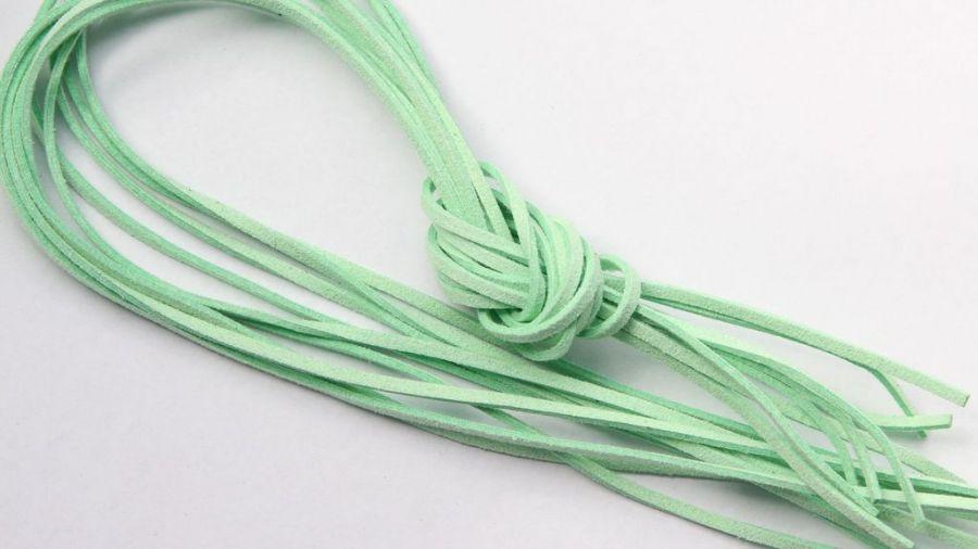 Шнур замшевый, 3*2 мм, Цвет №44, Зеленый, 1 м/упак