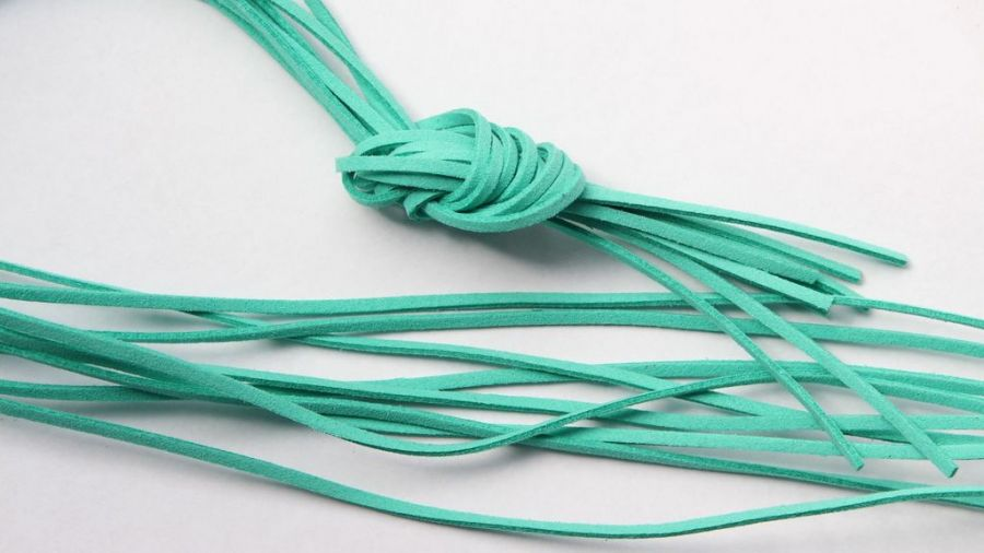 Шнур замшевый, 3*2 мм, Цвет №48, Винтажный зеленый, 1 м/упак