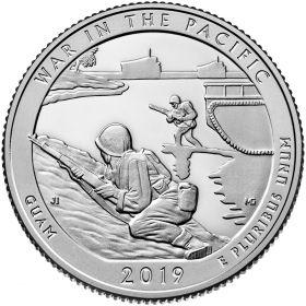 Военный мемориальный парк (Остров Гуам) 25 центов США 2019 ДворS