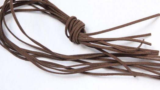 Шнур замшевый, 3*2 мм, Цвет №18, Коричневый, 1 м/упак