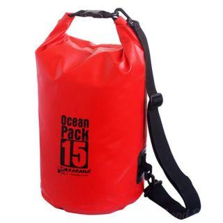 Водонепроницаемая сумка-мешок Ocean Pack, 15 L, Цвет: Красный