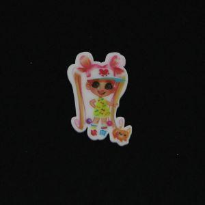 "`Кабошон ""Вырубка"", пластик, размер 42*26мм, Арт. Р-КБВ0091-7"