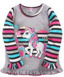 Кофта для девочки Bonito серая в полоску с Pony