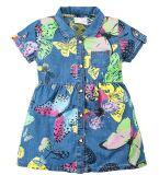 Джинсовое платье на девочки Bonito светлое с бабочками