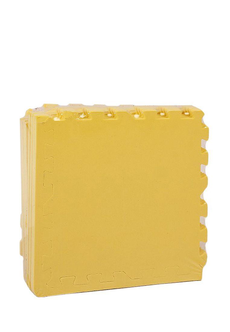 Мягкий пол универсальный 30*30 (см) желтый с кромками