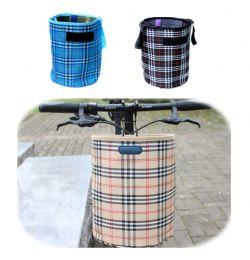 Складная подвесная тканевая корзина на руль велосипеда, 28х23 см