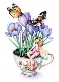 Почтовая открытка Цветочное волшебство