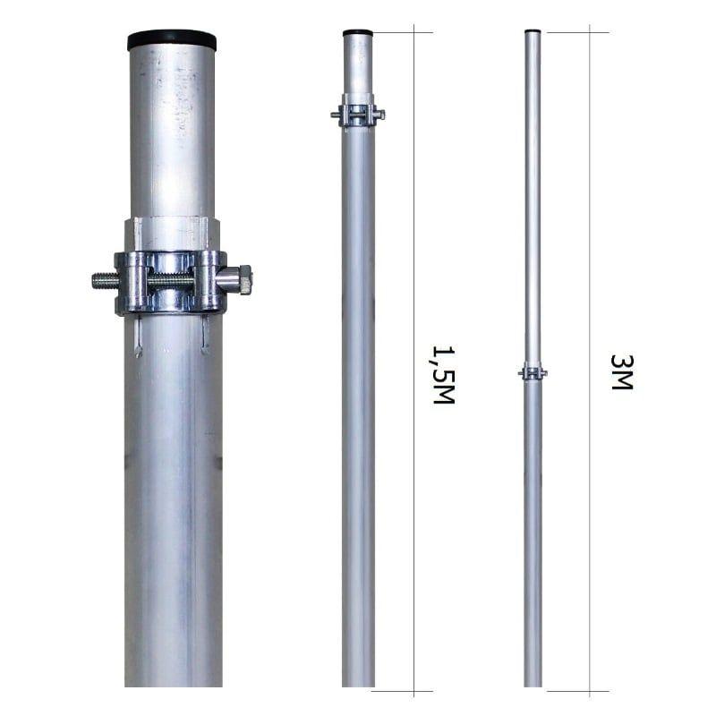 Мачта 3м Алюминиевая (МАТ 15-30)
