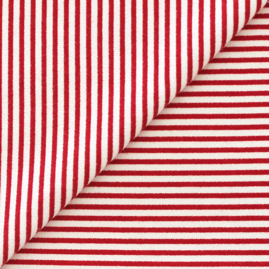 Лоскут трикотажной ткани 50*30 Красная полоска