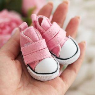Обувь для кукол Кеды 5 см на липучках (светло-розовые) УЦЕНКА