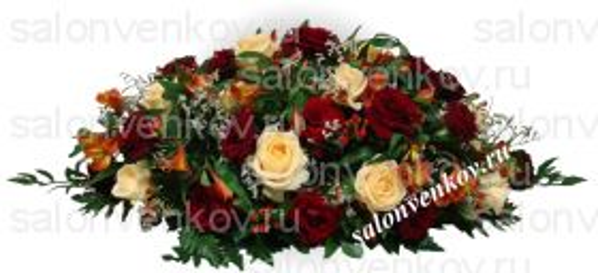 Траурная композиция из живых цветов N73
