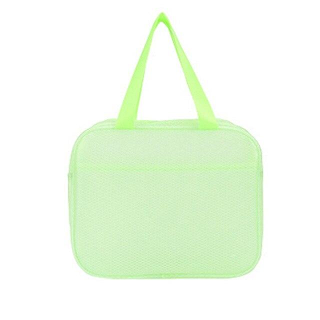 Водонепроницаемая пляжная сумка с двумя карманами Beach Bag, цвет салатовый