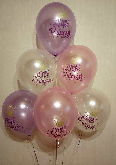 Маленькая Принцесса латексные шары с гелием