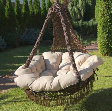 Подвесное кресло качели КАРТАХЕНА с подушками. Без каркаса.