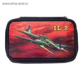 Пенал 3 секции «Вертолёт «ИЛ-2», 120 х 205 мм, 3D объёмный рисунок 2631058 (арт. 31П26/3_1058)