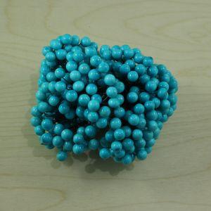 `Ягоды 10 мм (длина 16см), цвет бирюзовый, 1 уп = 40 ягодок ( 20 веточек), Р-ЯГ0030-1-40