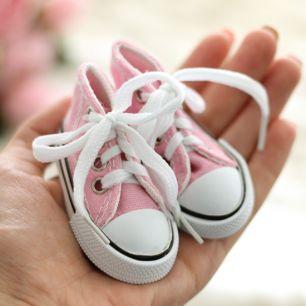 Обувь для кукол Тильда -7.5 см розовые кеды